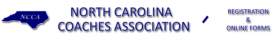 North Carolina Coaches Association: Online Forms